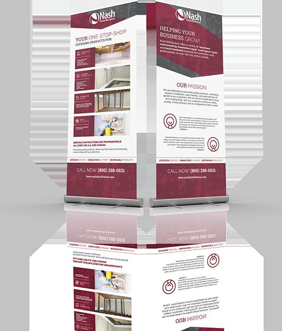 Nash Distribution   Custom Graphic Design   Sign Display - Pull Up Banner   Greenbaum Stiers Strategic Marketing Group  