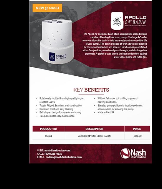 Nash Distribution   Custom Graphic Design   Sales Materials   Greenbaum Stiers Strategic Marketing Group  