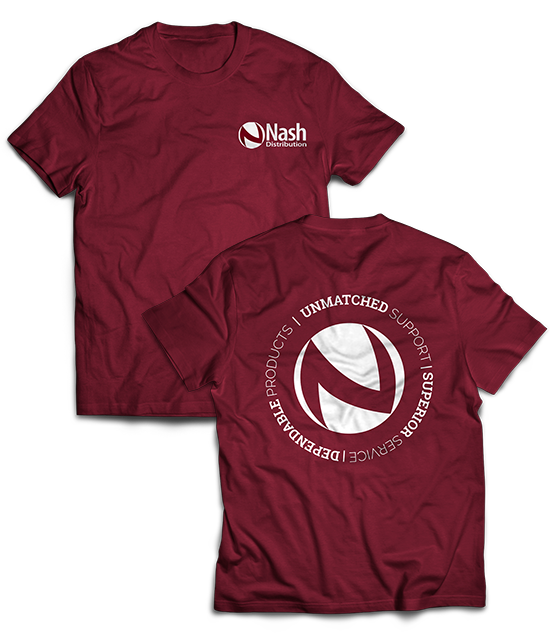 Nash Distribution   Custom Graphic Design   T-shirt Designs  Greenbaum Stiers Strategic Marketing Group  