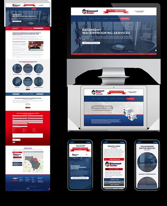 Basement Doctor Akron   Web Design and Development   Greenbaum Stiers Strategic Marketing Group  