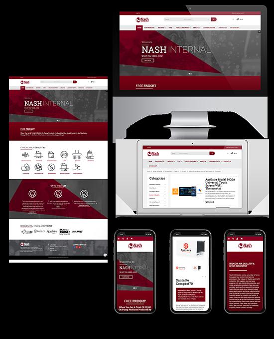 Nash Distribution/Internal   Web Design and Development   Greenbaum Stiers Strategic Marketing Group  