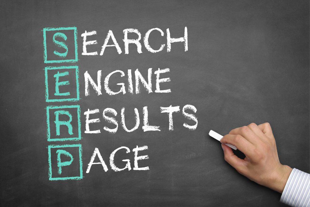 SERP Appearance Chalk Board | Greenbaum Stiers Strategic Marketing Group